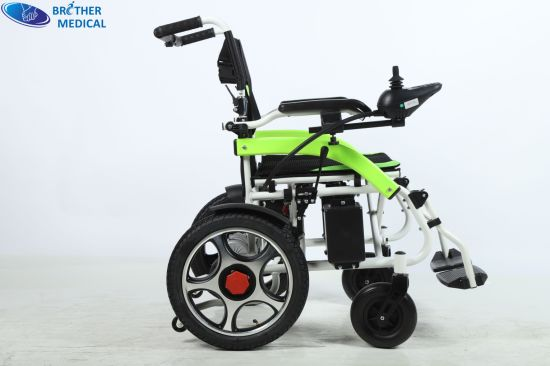 Aluminum Folding Portable Power Wheelchair Lightweight Foldable Electric Wheelchair for Disabled