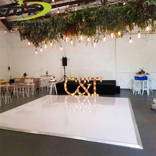 Gloss Black/White Acrylic Panel Portable Dance Floor