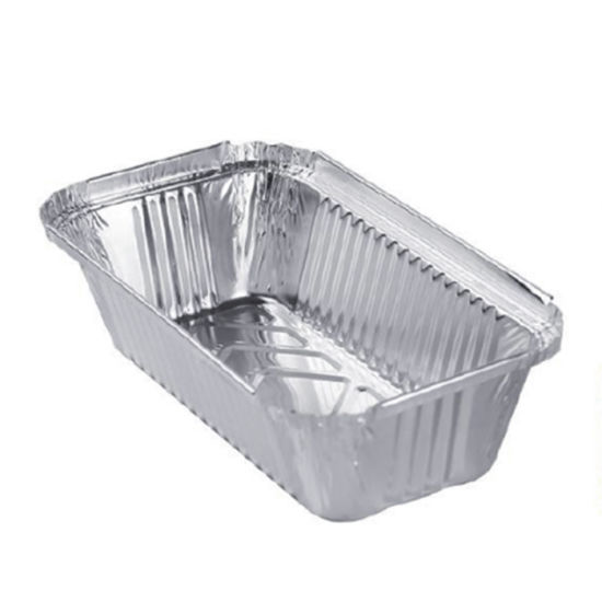Share1.5lb Loaf Pan Rectangle Aluminum Tin Foil Container and Lid