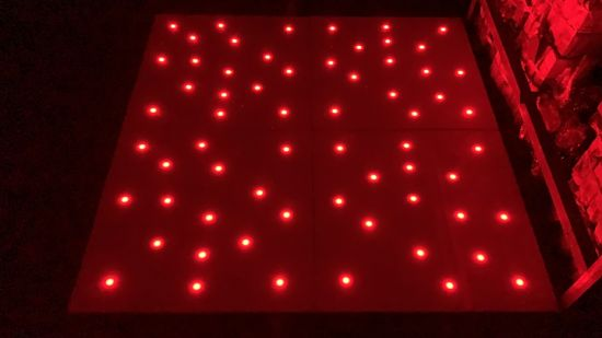 High Quality Acrylic Portable DMX512 RGB Starlit LED 3in1 Dance Floor Panel Tile for Wedding Party DJ