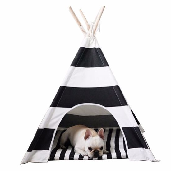 Portable Waterproof Oxford Printing Pet Tent Cat Dog Bed Pet House Supply
