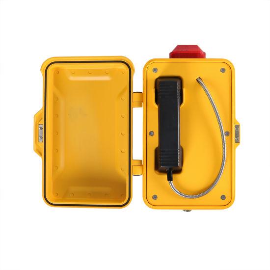 Underground Tunnel IP Telephone Hotline Handset Marine Telephones with Warning Light