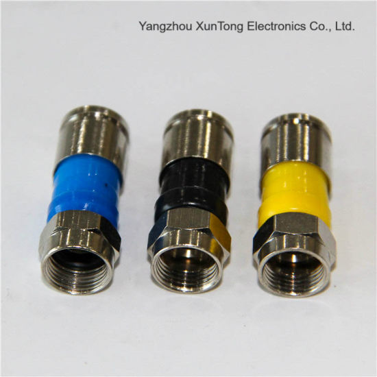Rg11 Coaxial Cable F Male Waterproof Electrical Connector Practical Aluminum or Brass Connector