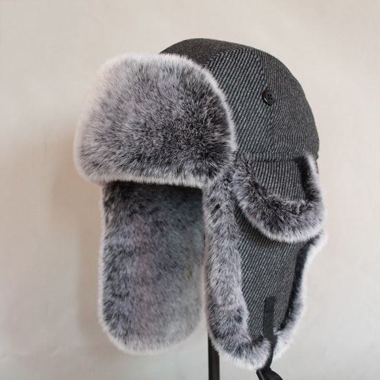 Windproof Warm Ear Cover Winter Trapper Faux Fur Russian Hat pictures & photos