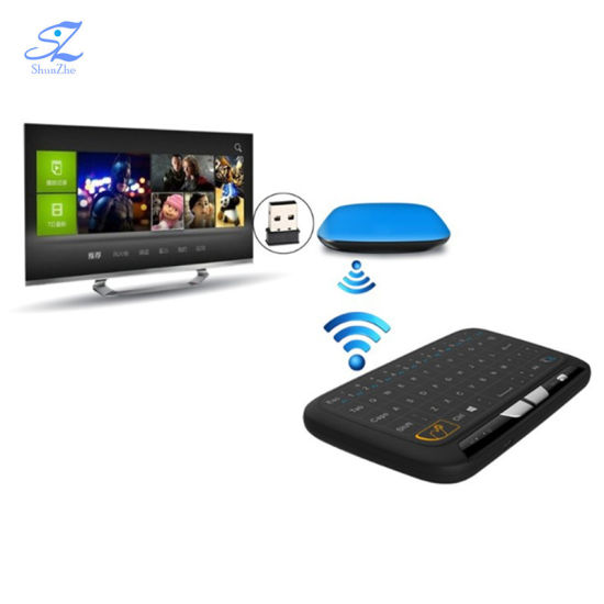 H18+2 4GHz Mini Wireless Qwerty Full Touchpad Keyboard Remote Control for  Android TV Box PC Smart TV Box