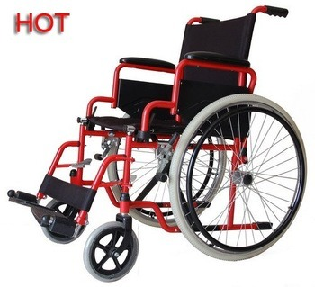 Promotion Llight Weight Foldable Aliminum Steel Frame Medical Wheel Chair in Europe