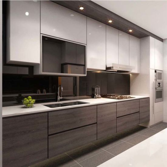 China European Style Factory Design Kitchen Cabinets Modern Wood