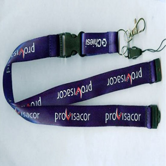 Purple ID Neck Strap Lanyard Metal Clip /& White Plastic Card Badge Pass Holder