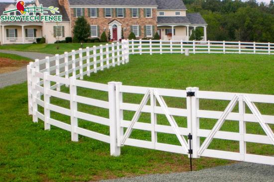 4 Rails Pvc Post And Rail Fence
