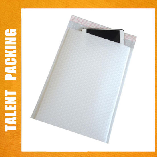 Printed Bubble Mailer Envelopes Wrap Bags with Logo in White Brown Yellow