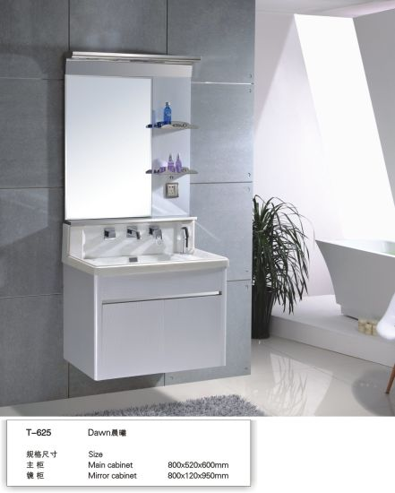 201 Stainless Steel Small Size 60cm Economic Hotel Bathroom Furniture