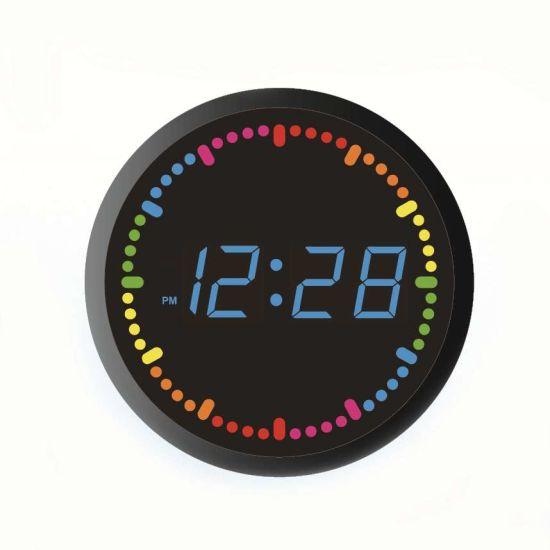 Circling LED Digital Electronic Wall and Table Clock