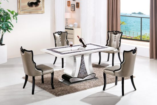 [Hot Item] 7 Modern Design Dining Furniture Dining Table Good Quality  Elegant Dining Chair
