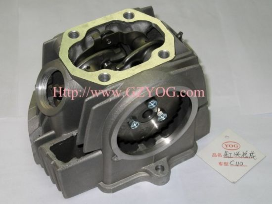 Yog Motorcycle Spare Parts Engine Cub Cylinder Head 70 90 100 110cc Top  Complete