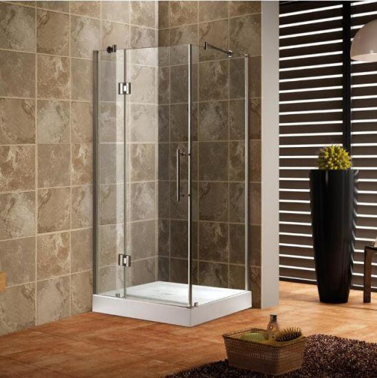 China Rectangular Frameless Tempered Glass Sliding Shower Door ...