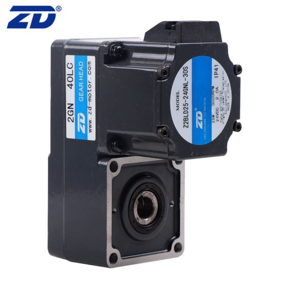 High Efficient L Type Speed Reducer Electric DC Brushless Gear Motor For Barrier Gate System