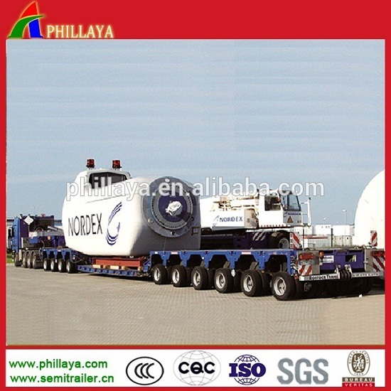 Hydraulic Steering Axle Low Deck Goldhofer Modular Truck Semi Trailer pictures & photos