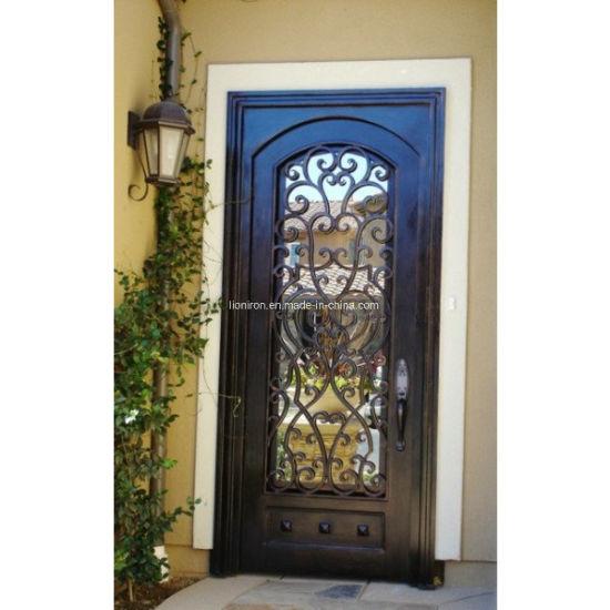 Xiamen Lion Single Wrought Iron Door Design For Apartment