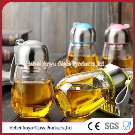200ml Soda Water Glass Bottle with Screw Cap pictures & photos