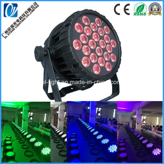 IP65 Waterproof LED PAR Light with 24PCS 18W 6in1 LED Chip