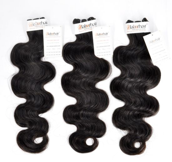 100% Natural Brazilian Virgin Human Hair Bundles at Factory Price with SGS Approval
