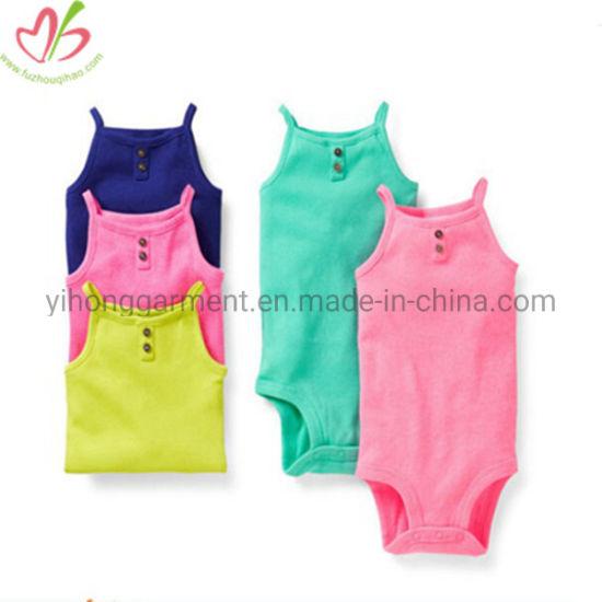 100% Cotton 2 Pieces Customzied Color Summer Baby Clothes Sets