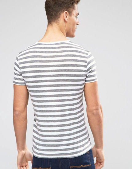 Custom High Quality Mens Cotton Stripe T Shirts pictures & photos