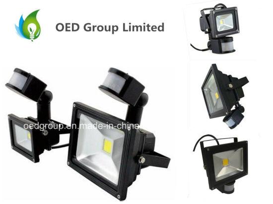 European Market LED Sensor Controlled PIR Floodlight 20W with CE RoHS IP65
