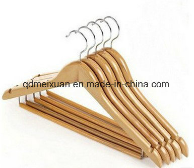 Wholesale Wood Hangers Clothing Store Real Wood Clothes Pants Wearing a Suit Hanger a Smooth Surface (M-X3601) pictures & photos