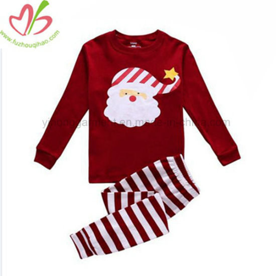 d9bd85d9f China USA Hotsale Kids Christmas Design Clothes Set with Santa ...