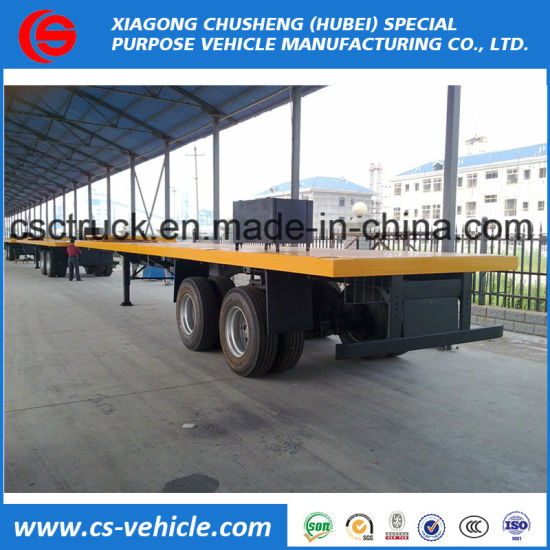 40FT Container 2 Axle Flat Bed Semi Trailer
