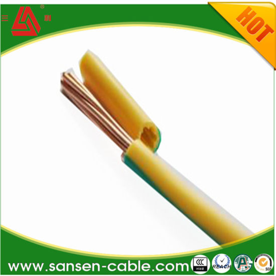 Electric Wire Single Copper Ground Installment Wire Cable pictures & photos