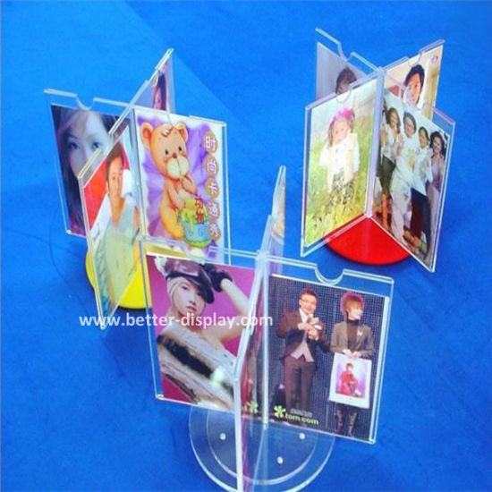 Roating Acrylic Photo Frame Plastic Picture Frame