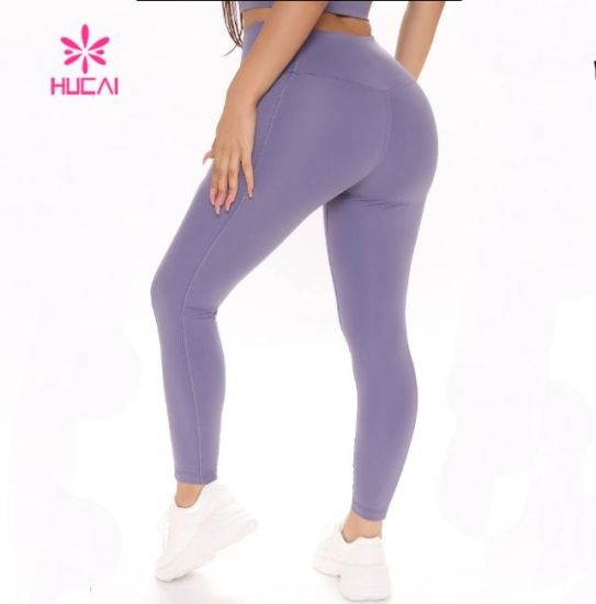 Hucai Yoga Pants Wholesale High Quality Women Custom Sport Tights