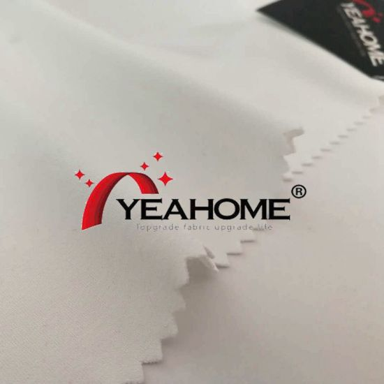 White Poly Matte 4-Way Elastic Fabric for Car Cover