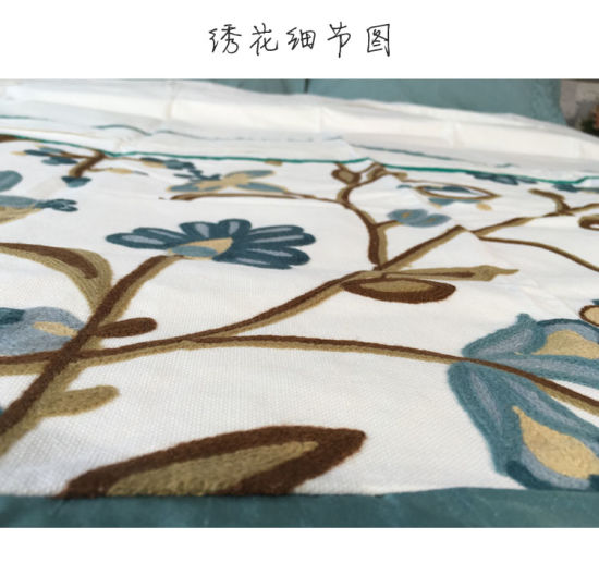 100% Pure Cotton Stitching Cotton Canvas Towel Embroidery Bedding Set pictures & photos