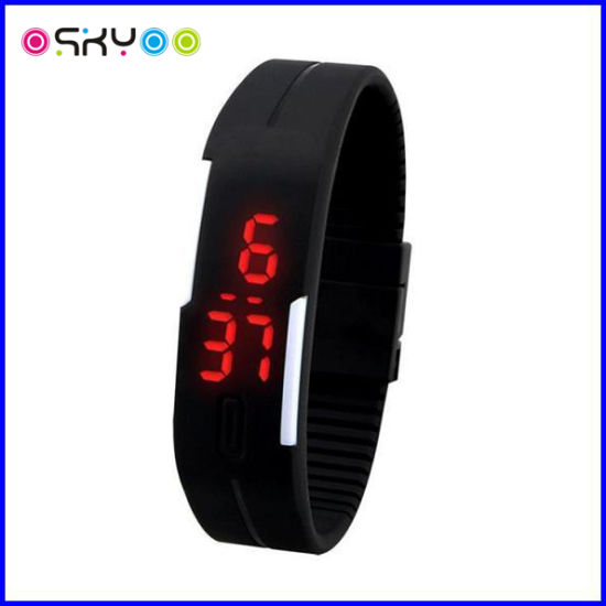 Fashion 3ATM Silicone LED Digital Sports Watch