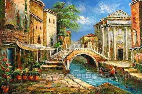 Wall Art Decor Impressionist Venice Oil Painting (EVN-084)