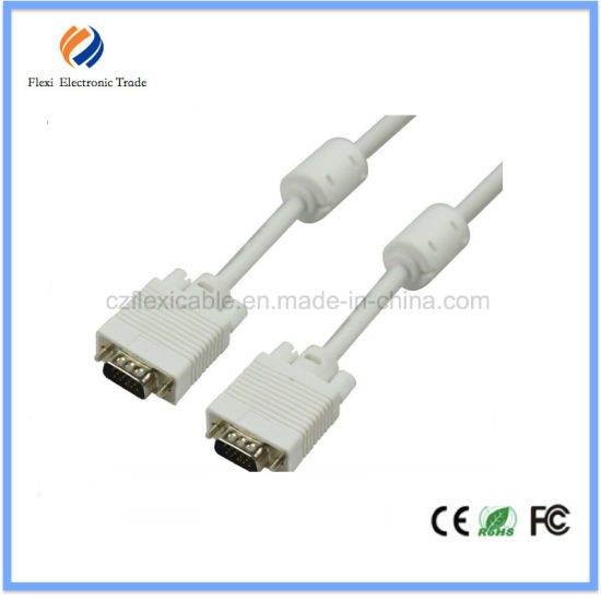 High Quality Mini HDMI to VGA Cable with Ferriter Cores pictures & photos