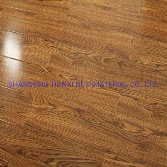 Waxed Edges HDF Wooden Laminated Flooring China Factory Export