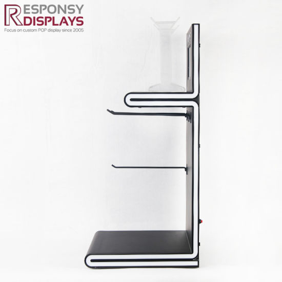 Consumer Electronics Accessories Headphones LED Counter Hanging Acrylic Exhibition Stands pictures & photos