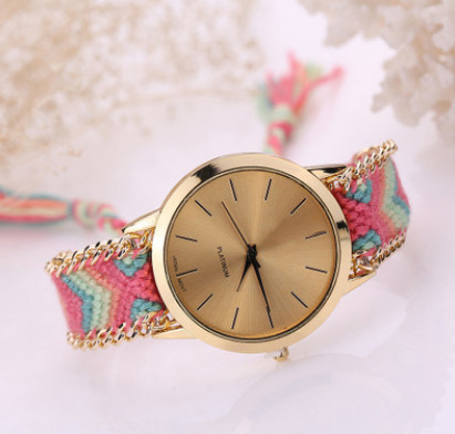Wave Cloth Strap Alloy Case Promotion Watch for Women Watch (DC-SZ152) pictures & photos