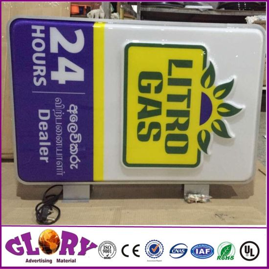 Double Sides Irregular Shape Display LED Light Box pictures & photos
