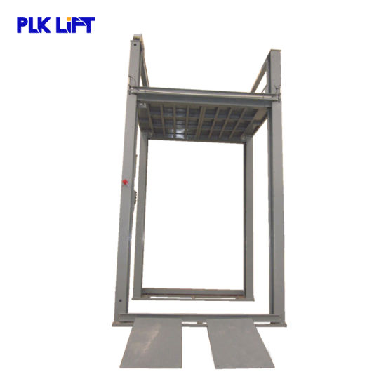 7m on Ground Mechanical Car Lift with Ramp