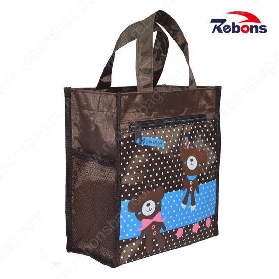 Fashion Designer Shoulder Women Handbag Wholesale with Cartoon Printing