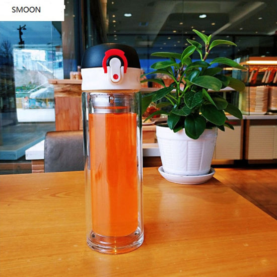 Glass Portable Korean Water Cup Simple Cup Small Fresh Cup Set Small Glass Water Bottle 400ml Portable Ideal for School Home Office Travel Sport Yoga Gym 2020