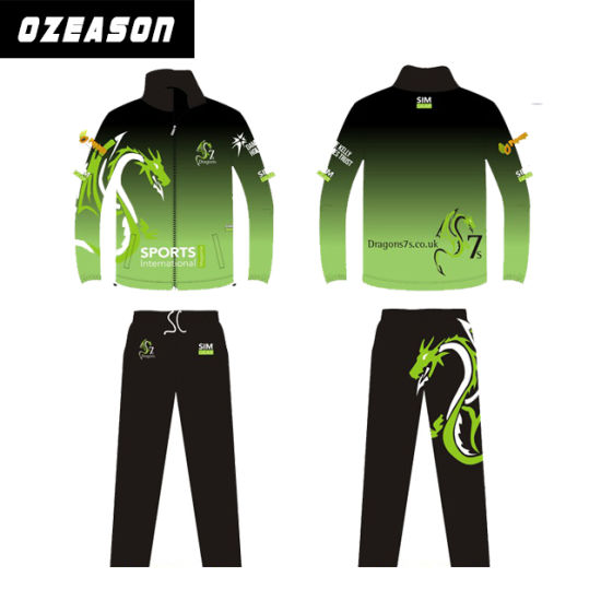 Customized Polyester Men / Women Training Color Printing Tracksuit (TJ019)