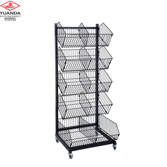 Wire Basket Display Rack Store Display Stand Storage Cage