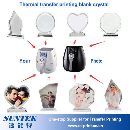China Wholesale Sublimation Heat Transfer Blank Glass Photo Frames ...