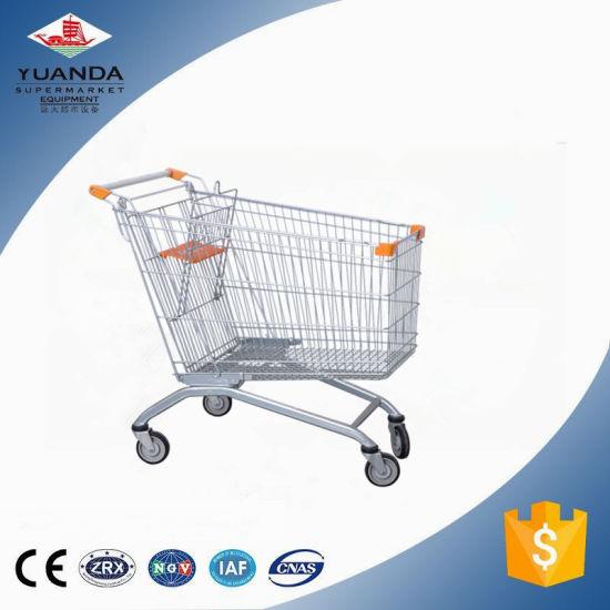 Retail Store Supermarket European Style Shopping Cart for New Hypermarket Customs